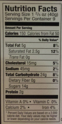 Black & White Cookies, 9 individually wrapped cookies - Nutrition facts - en