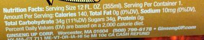 Cream soda - Voedingswaarden - en