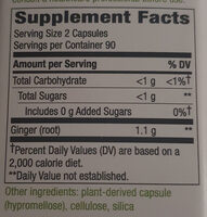 Ginger Root - Información nutricional - es