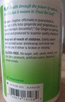 Nature's Way Ginger Root - Información nutricional - es
