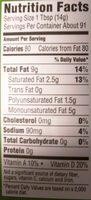 Buttery spread - Informations nutritionnelles - en