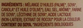Tartinade biologique - Ingrédients - en