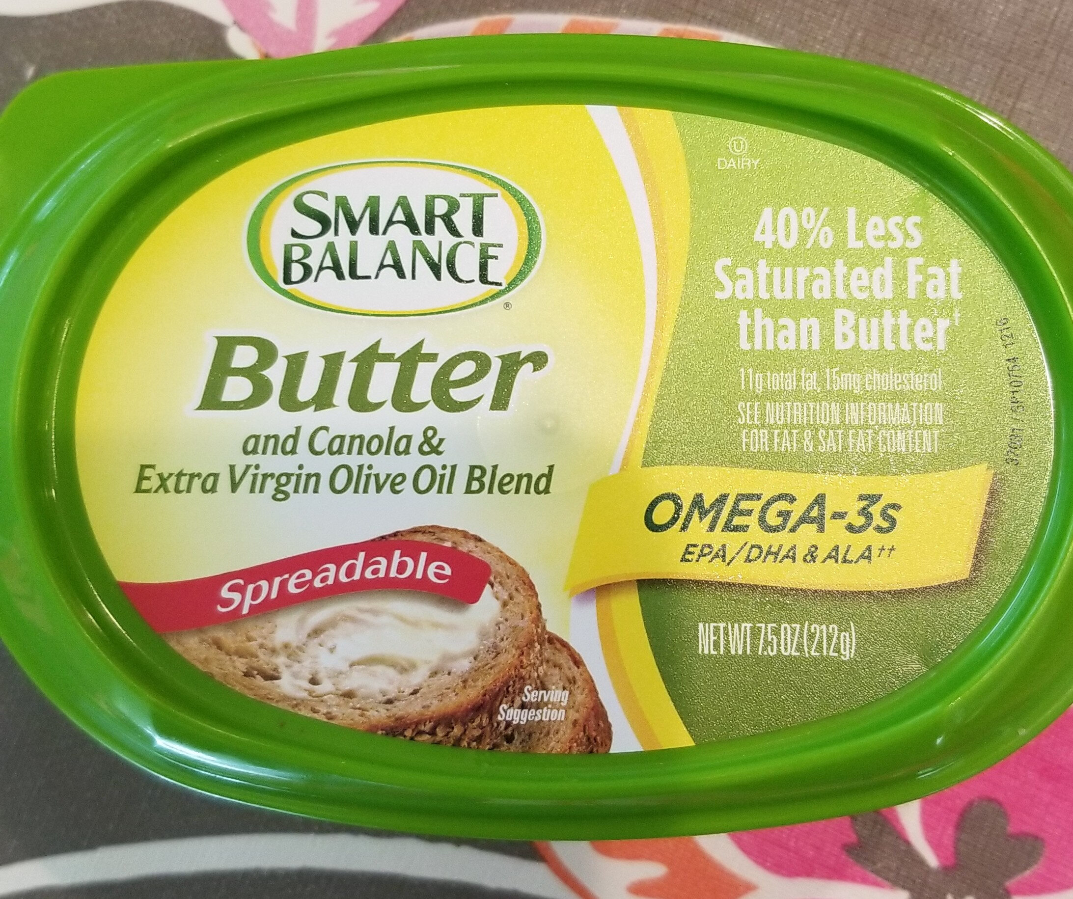Spreadable butter and canola & extra virgin olive oil blend - Product - en