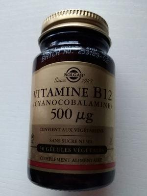 Vitamine B12 500μg - 50 Gélules - Solgar - Producto