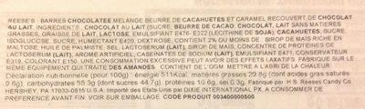 Barre Chocolat Beurre de cacahuètes - Ingrédients - fr