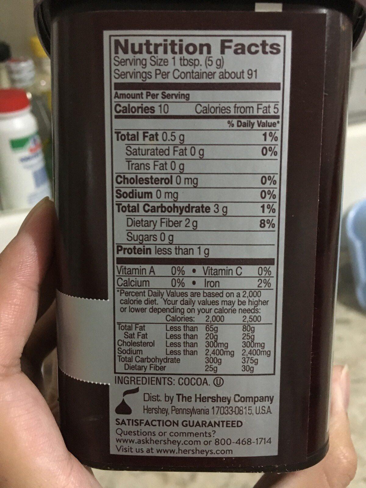 Hershey's Cocoa - Ingrediënten