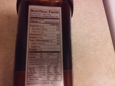 Hershey's cocoa - Nutrition facts