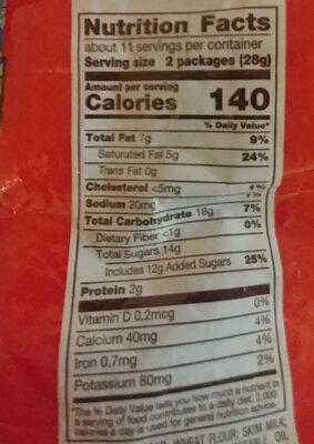 Kit Kat - Informations nutritionnelles - en