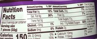 Hershey's dark chocolate kisses - Nutrition facts - en