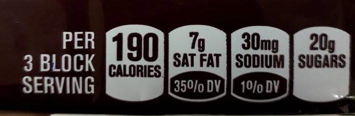 Hershey Giant Milk Chocolate - Voedigswaarden