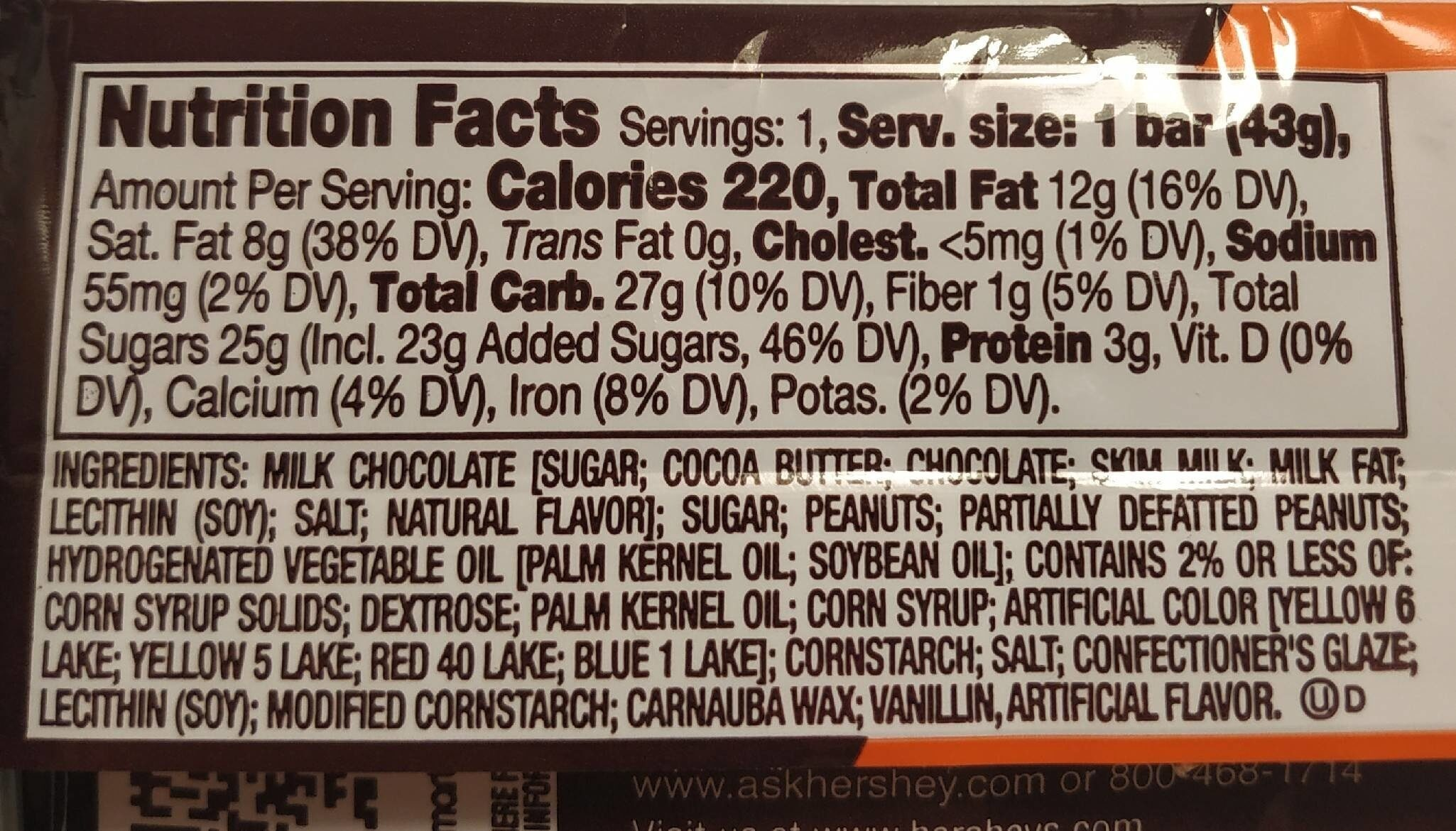 Hershey's ft Reese's - Nutrition facts