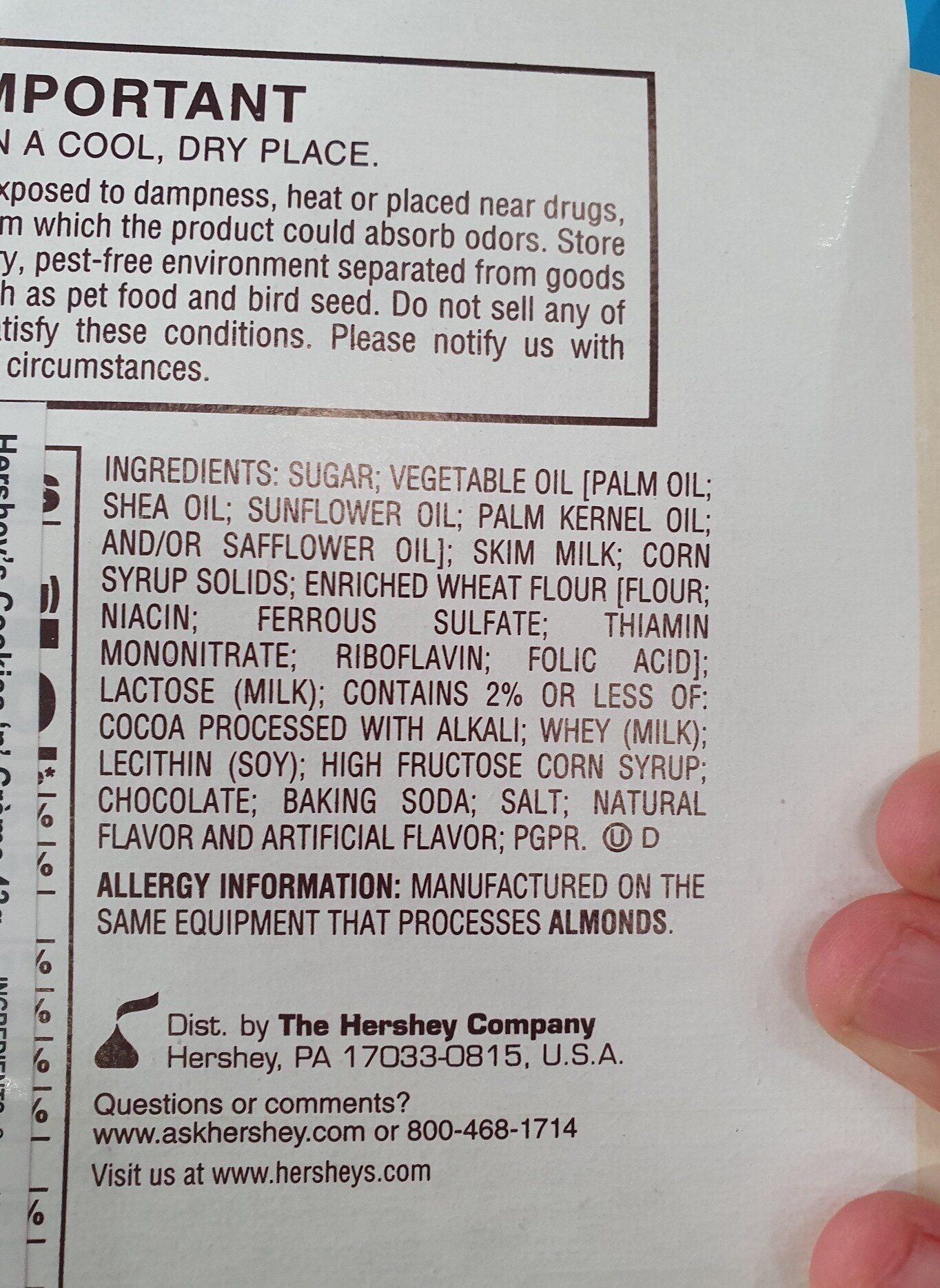 cookies and cream - Ingredients - en