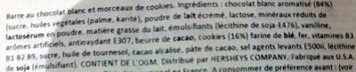 Cookies 'n' Creme Candy Bar - Ingrédients - fr