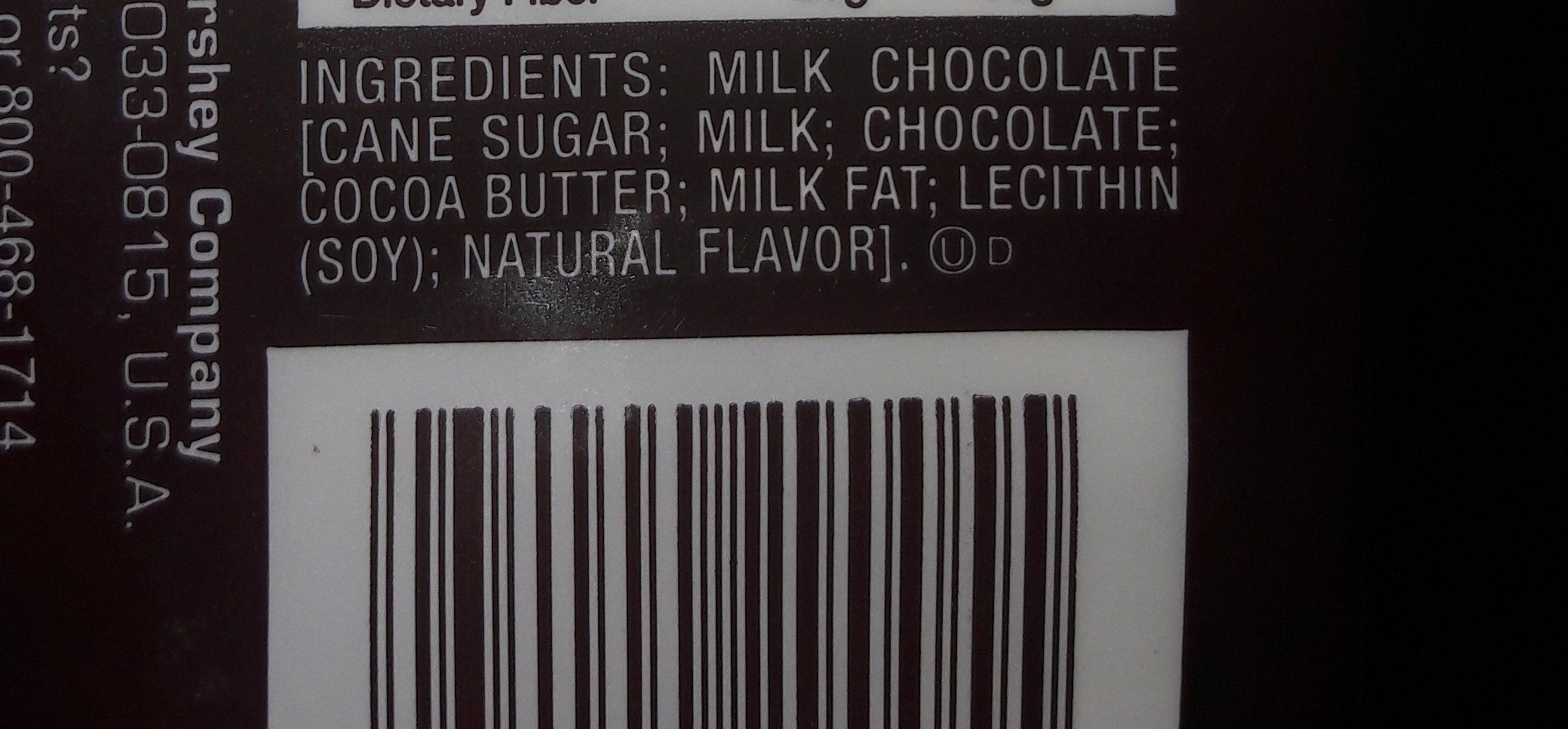 Milk Chocolate - Ingredients