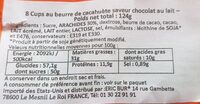 Peanut butter cups - Nutrition facts - en
