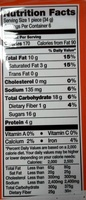 Milk chocolate trees, peanut butter - Nutrition facts