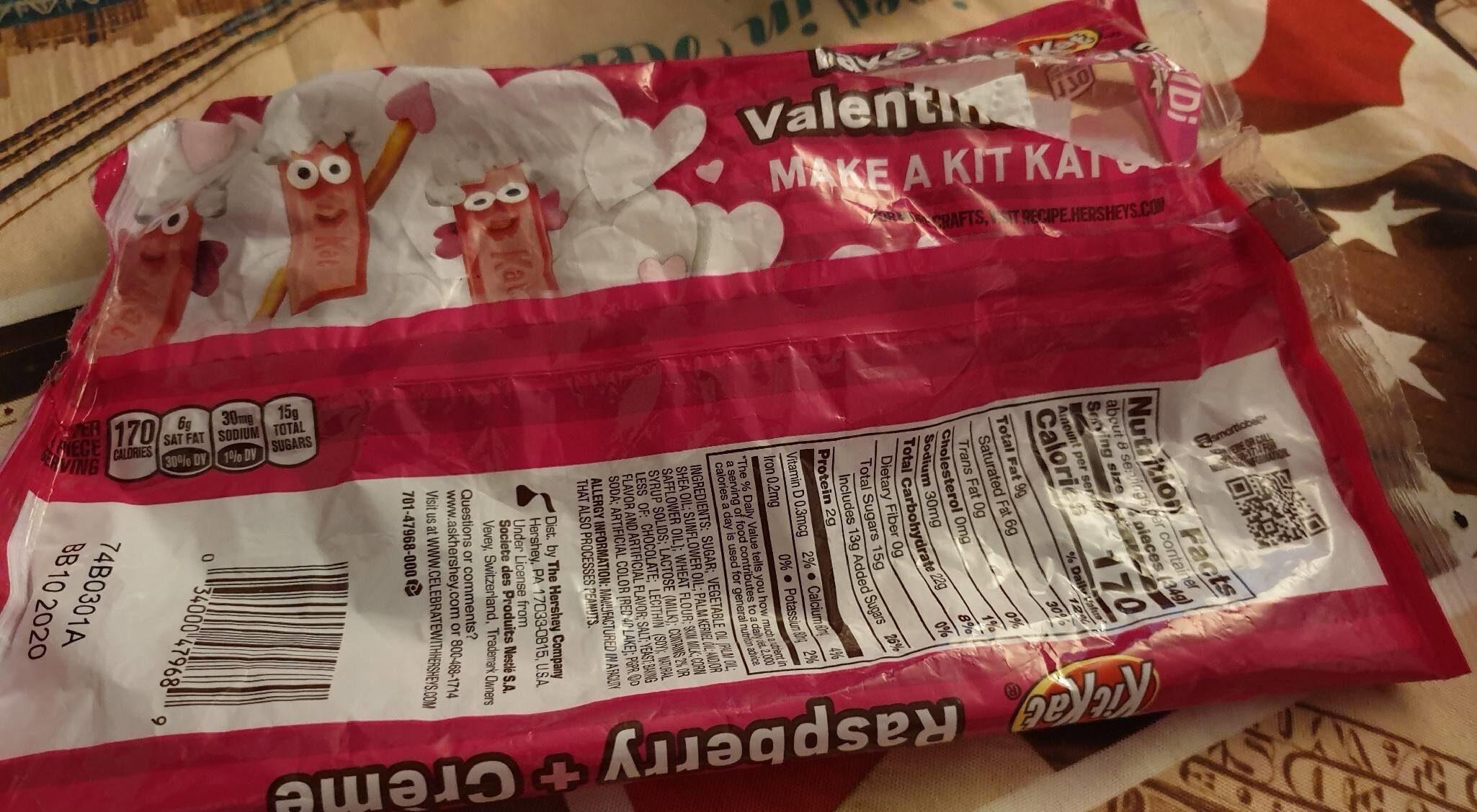 Kit Kat Raspberry Crème - Informations nutritionnelles - fr