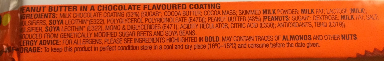 Reese's Peanut Butter Cups 4er King Size - Ingredients - en