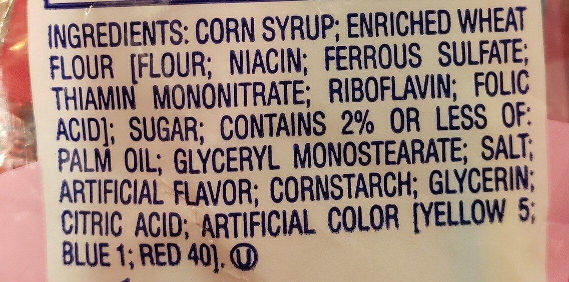 twizzlers pull n peel candy - Ingredients - en