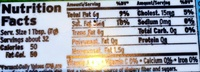 Whipped butter - Nutrition facts