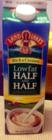 Rich & Creamy Lowfat Half and Half - Product