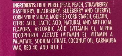 Fruit snacks - Ingredients - en