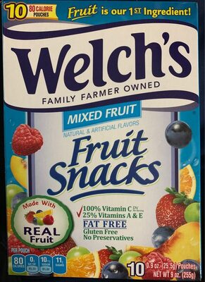 Mixed fruit snacks, mixed fruit - Product - en