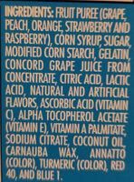 Fruit Snacks - Ingrediënten - en