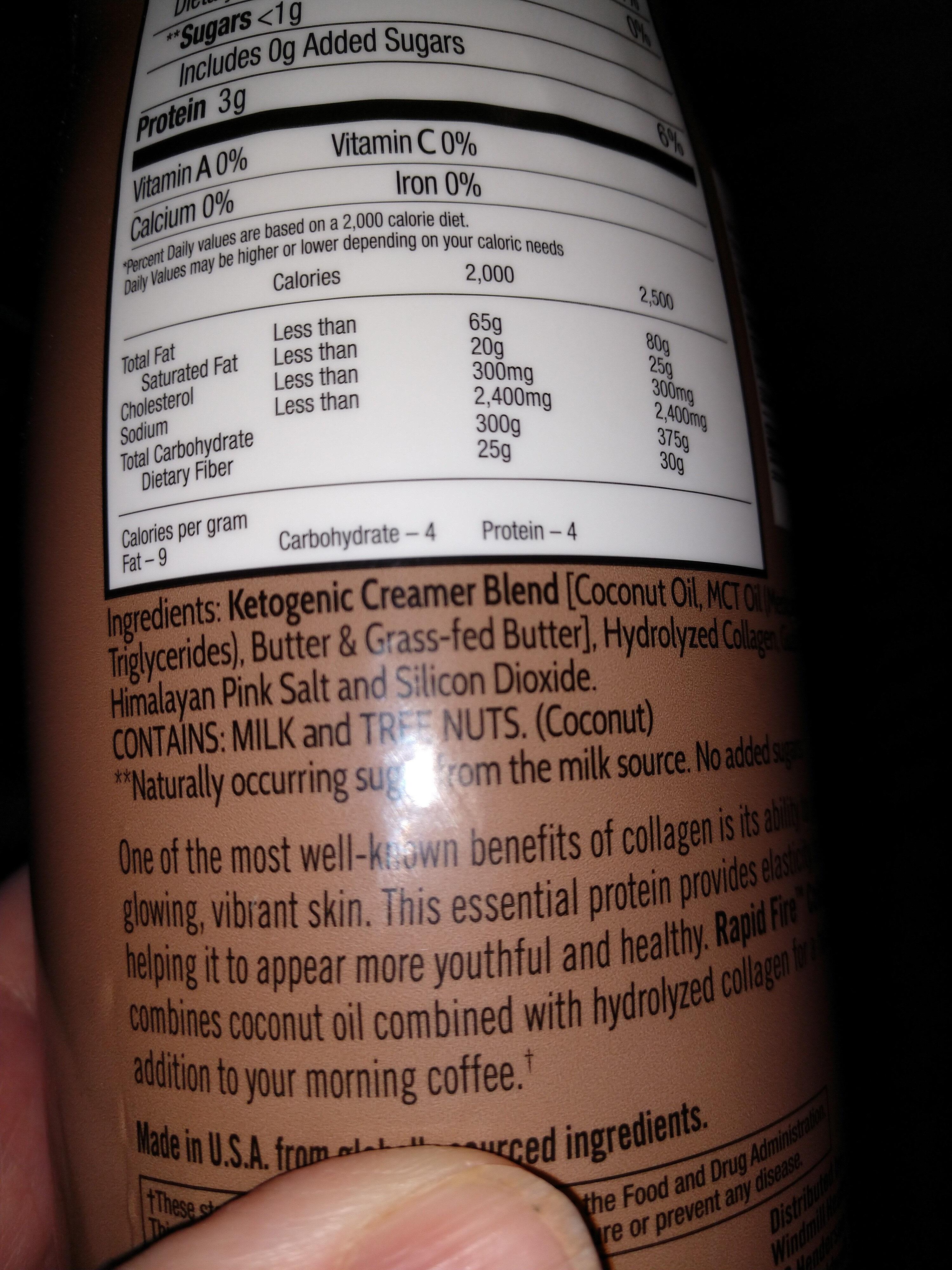 Collagen Creamer - Ingredients - en