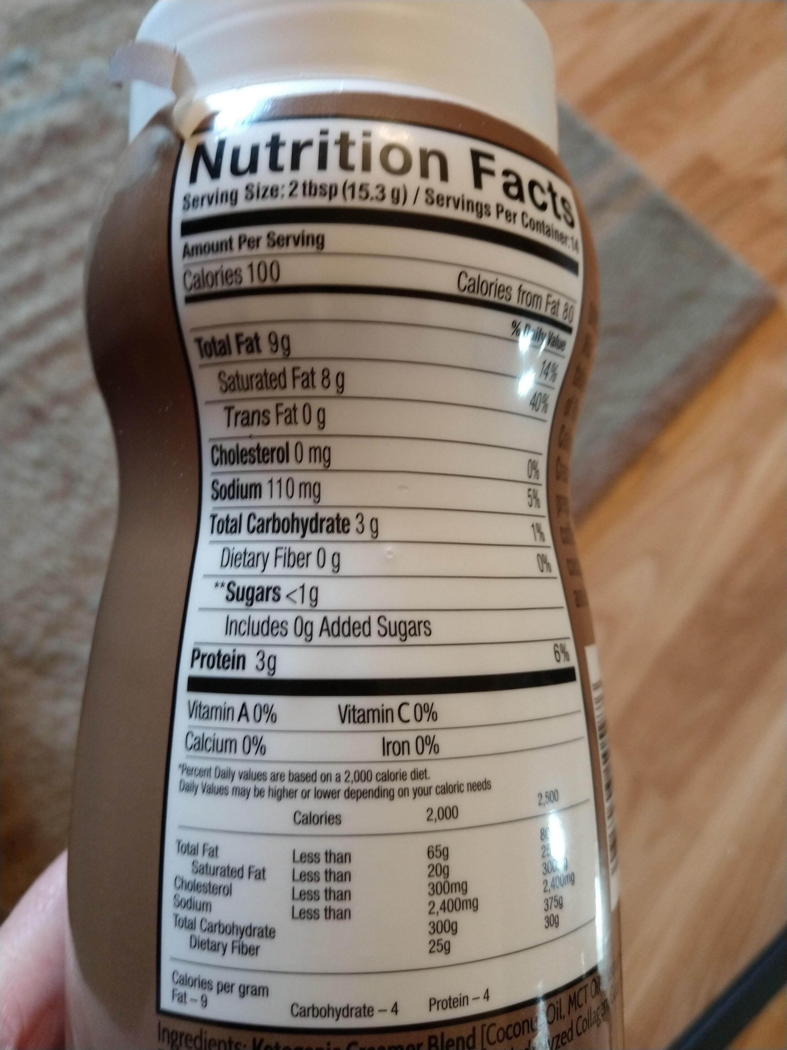 Collagen Creamer - Nutrition facts - en