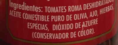 TOMATES DESHIDRATADOS AL SOL - Ingrédients - es