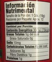 TOMATES DESHIDRATADOS AL SOL - Informations nutritionnelles - es