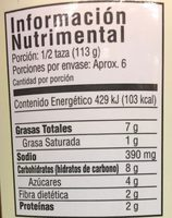 SALSA GOURMET - Nutrition facts