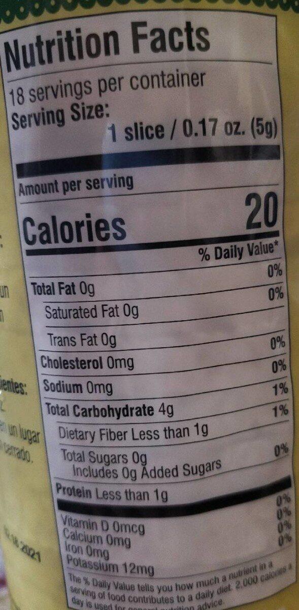 Rice cakes - 营养成分 - en