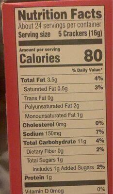 Golden Crackers - Voedingswaarden - en