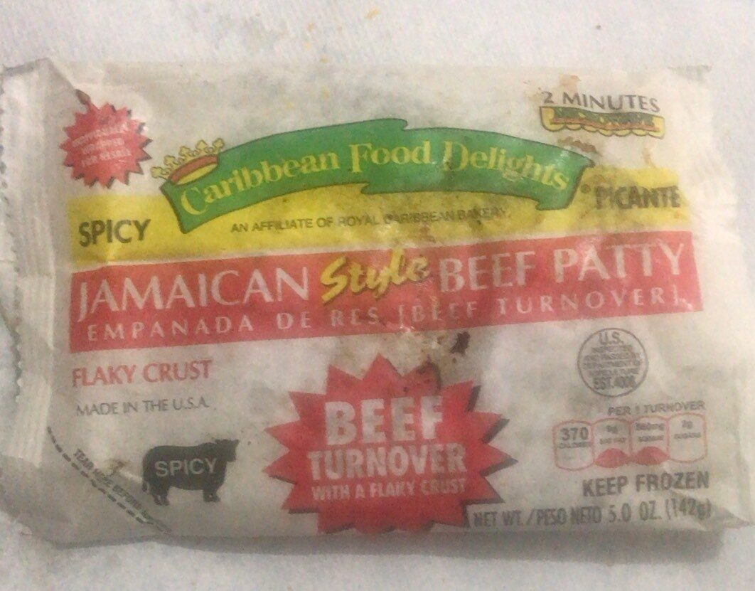 Jamaican style beef patty - Product - en
