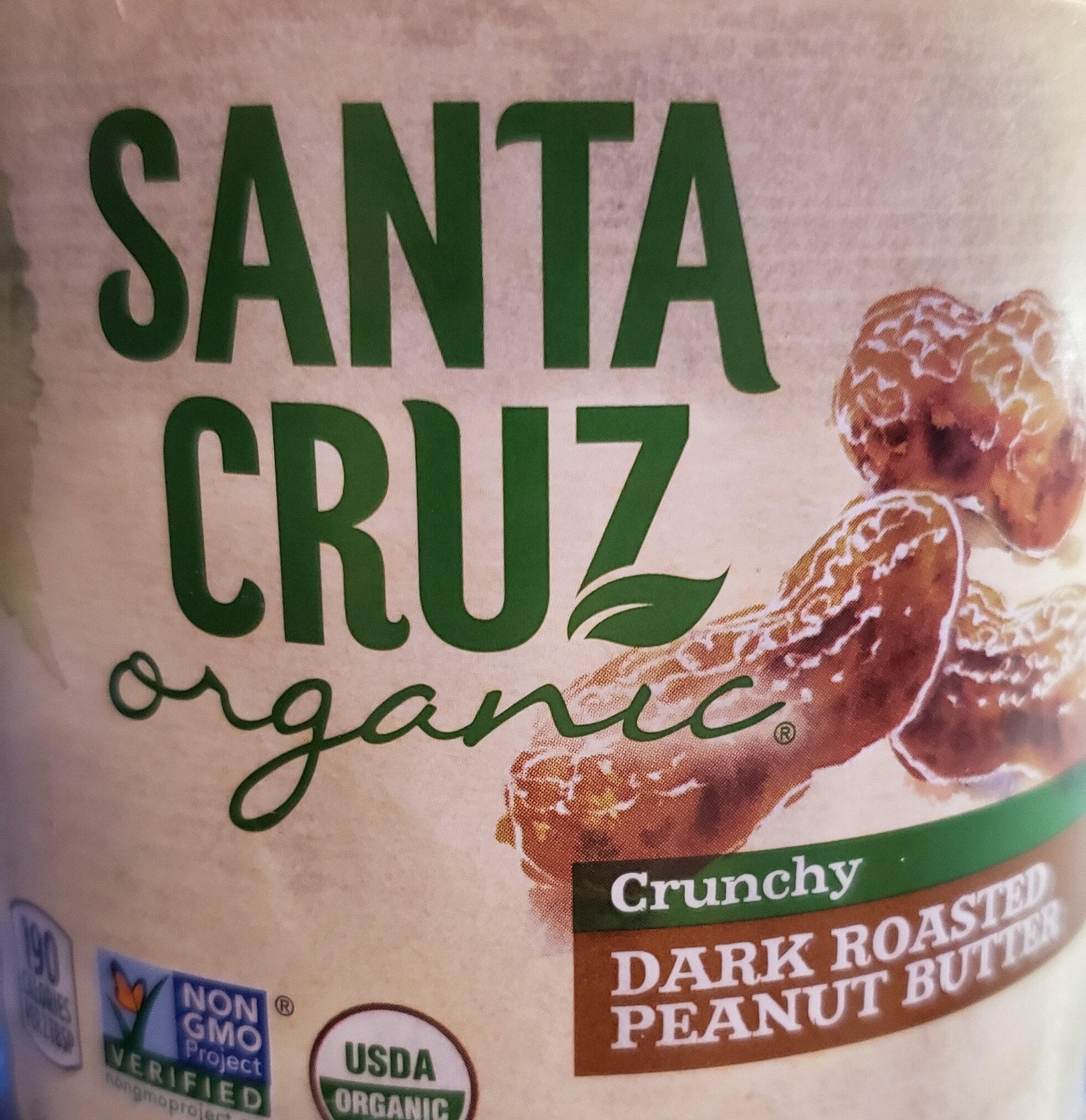 Santa cruz, organic crunchy dark roasted peanut butter, crunchy dark roasted - Product - en