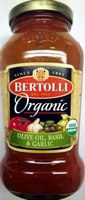Organic olive oil, basil & garlic sauce, olive oil, basil & garlic - Product - en