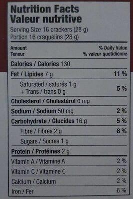 Craquelins de betterave douce - Voedingswaarden - en