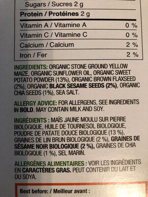 Sweet Potato Crackers - Ingrediënten - en
