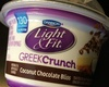Dannon, light & fit, nonfat greek crunch yogurt & toppings, coconut chocolate bliss - Product