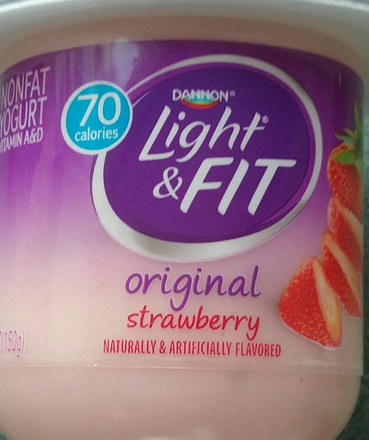 Light & Fit, Nonfat Yogurt, Strawberry - Product