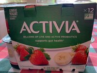 Lowfat strawberry strawberry banana probiotic yogurt - Product - en