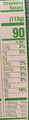 Lowfat strawberry strawberry banana probiotic yogurt - Nutrition facts - en