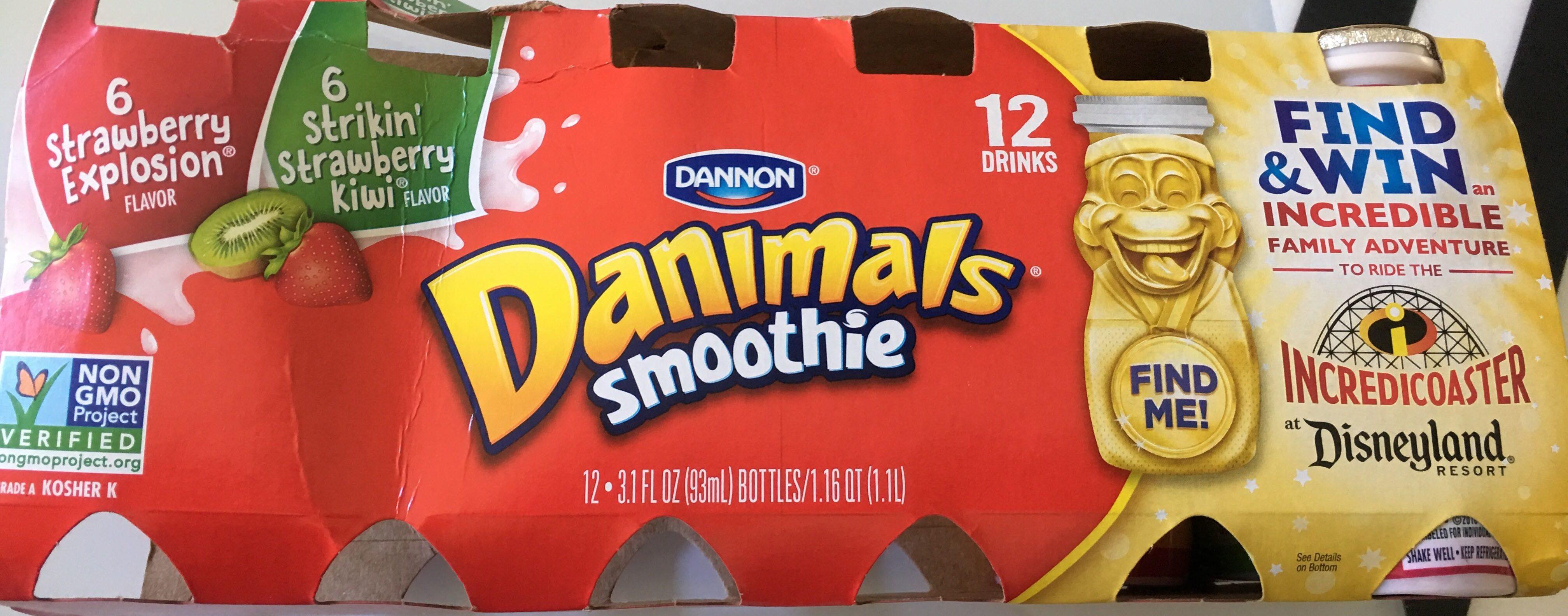 Danimals drink strawberry kiwi - Product - en