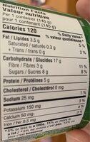 Delice probiotique à base d'amande - Informations nutritionnelles - fr