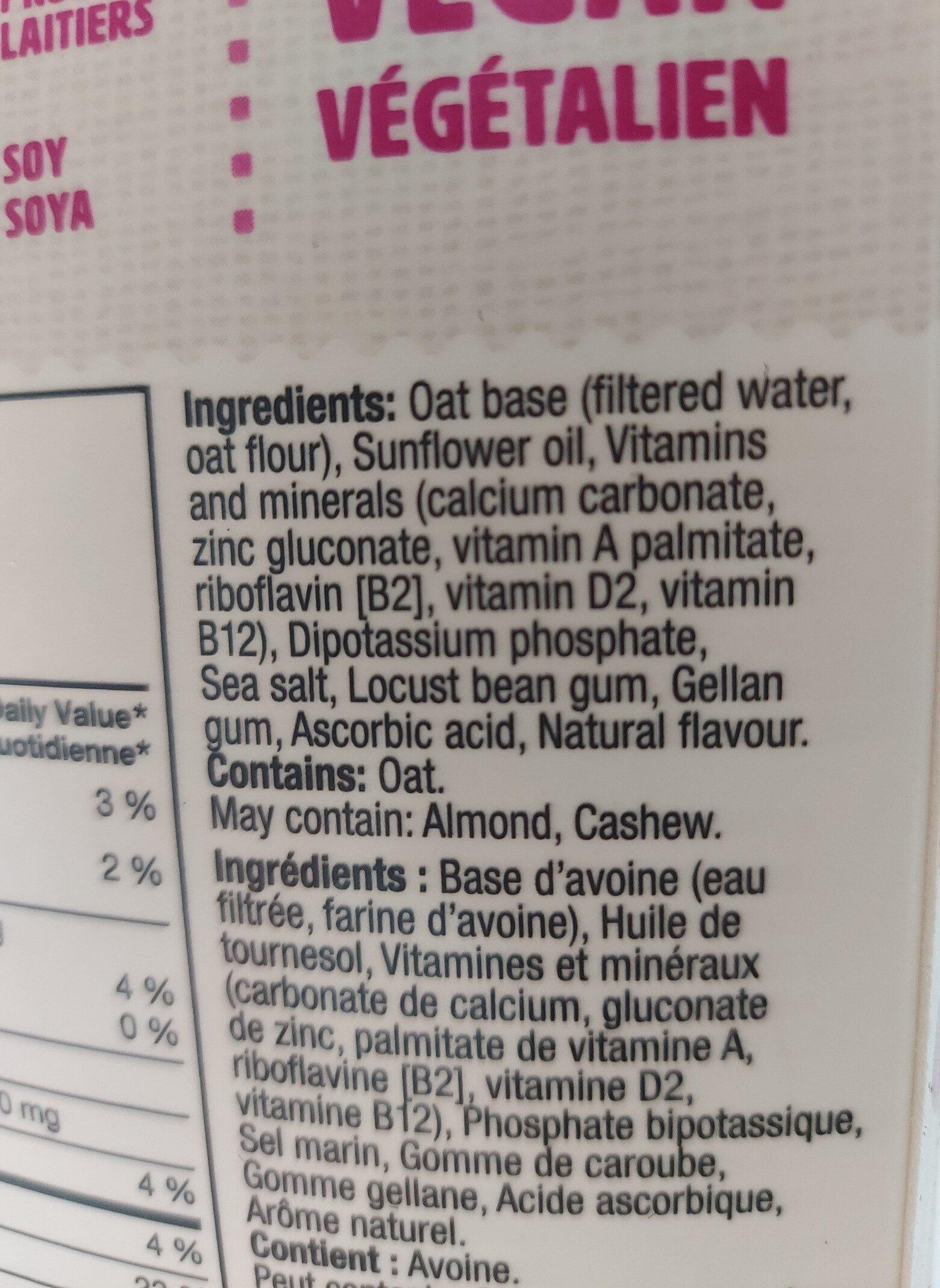 Oat Yeah the Unsweetend one - Ingredients - en