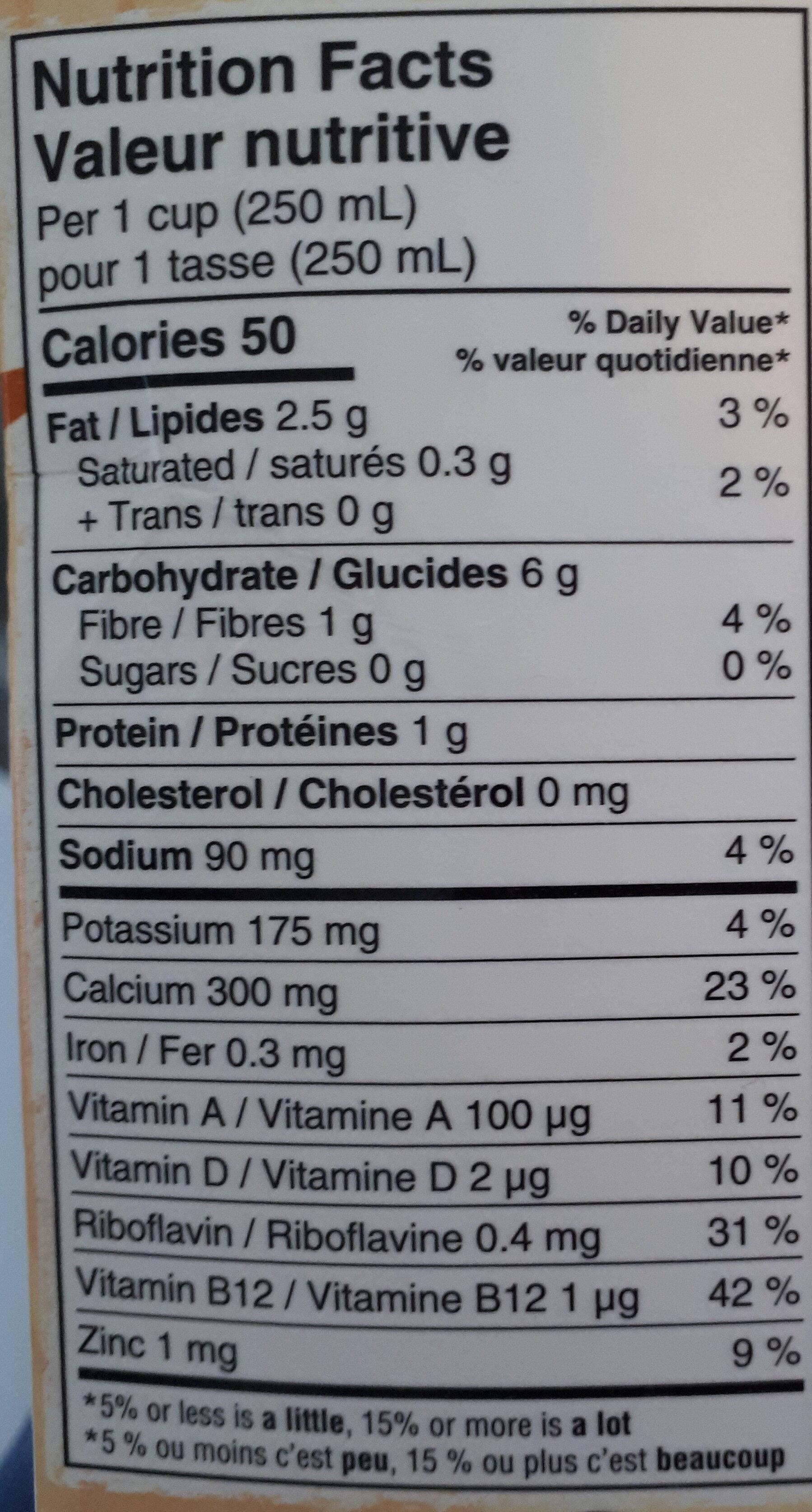 Oat Yeah the Unsweetend one - Nutrition facts - en