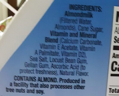 Vanilla almond milk - Ingredienti - en