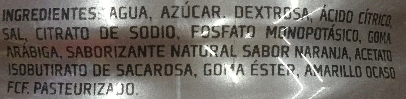 Gatorade Sabor Naranja - Ingrediënten